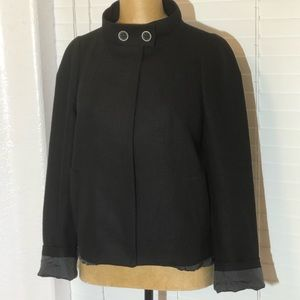 KENZO FRANCE black linen jacket blazer 40